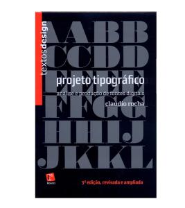 Capa do Livro - Projeto tipográfico: Análise e produção de fontes digitais